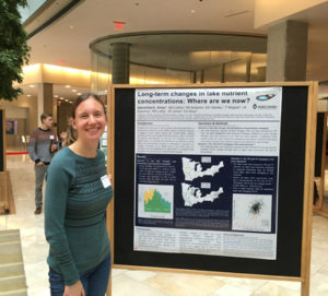 The good collaborator-Sarah Collins hosting a poster at the Water@UW-Madison Poster Session